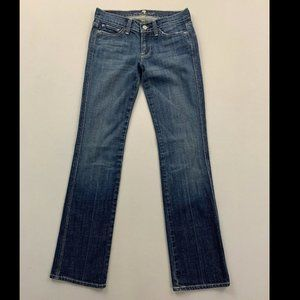 7 For All Mankind Blue Colette Straight Leg Jeans